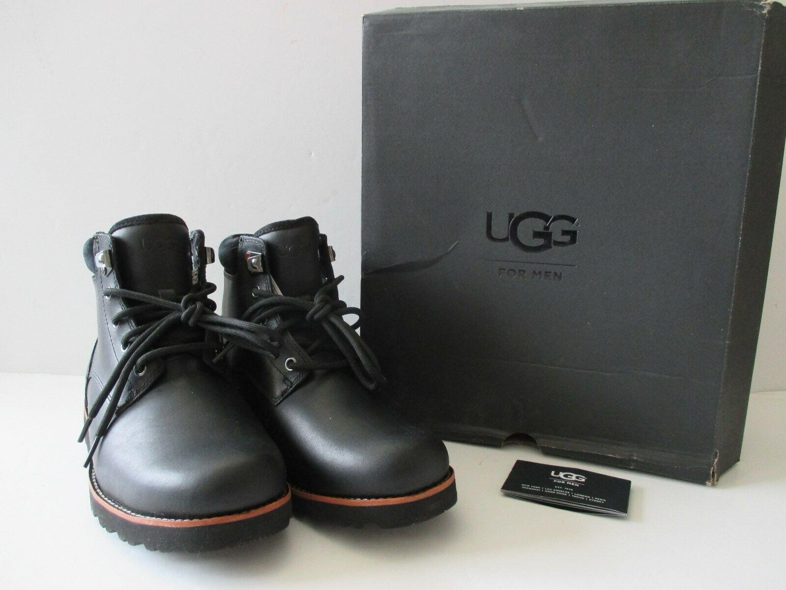 a376fad80e5 UGG Men's Seton TL Waterproof Leather BOOTS in Black Size 9