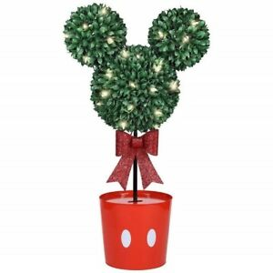 Christmas Topiary Decor.Details About Disney Mickey Mouse Led Topiary Tree Christmas Decoration White
