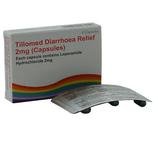30 Diarrhoea Relief 2mg Capsules Loperamide Hydrochloride Tablets Tillomed