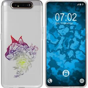 Samsung-Galaxy-A80-Coque-en-Silicone-floral-M2-5-Case-films-de-protection