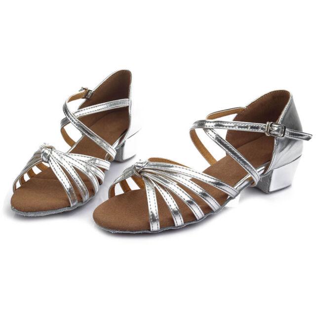 Latin Dance Shoes Ladies//Girls//Women Low Heel Ballroom Tango Size24-42 17-26CM