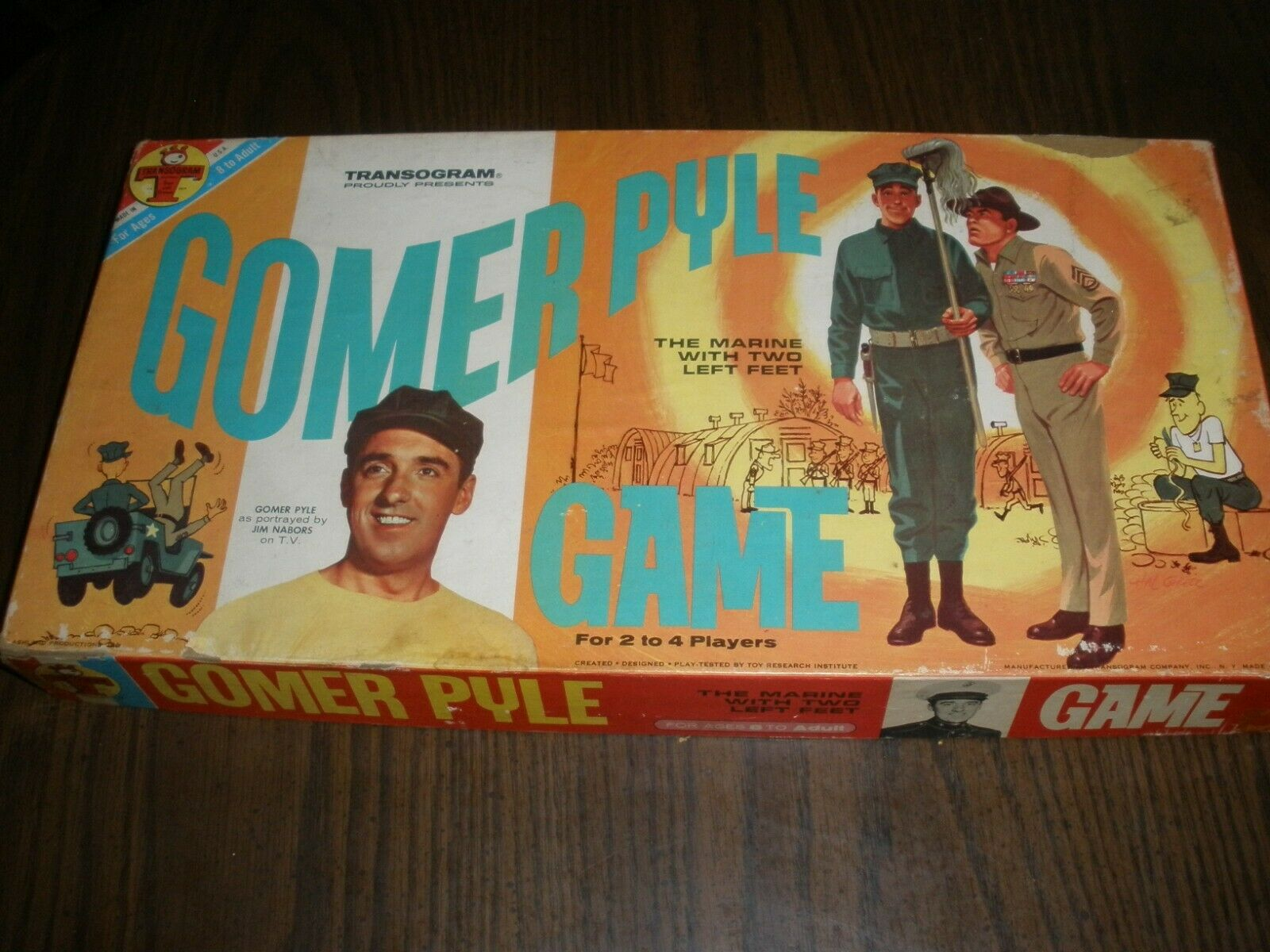 GOMER PYLE MARINE WITH TWO LEFT FEET BOARD GAME COMPLETE 1964