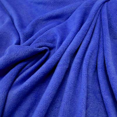 Stoff Meterware Fleece antipilling weich knitterfrei blau royal königsblau