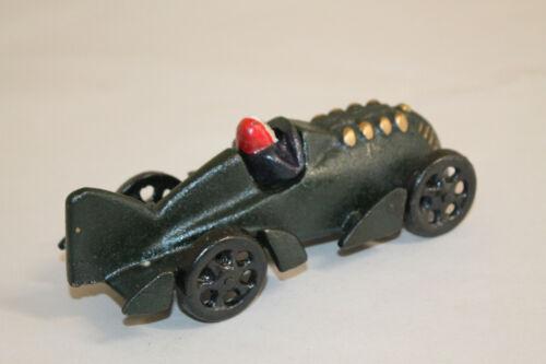 Antique Vintage Style Cast Iron Folk Art Piston Race Car Toy Man Cave Decor