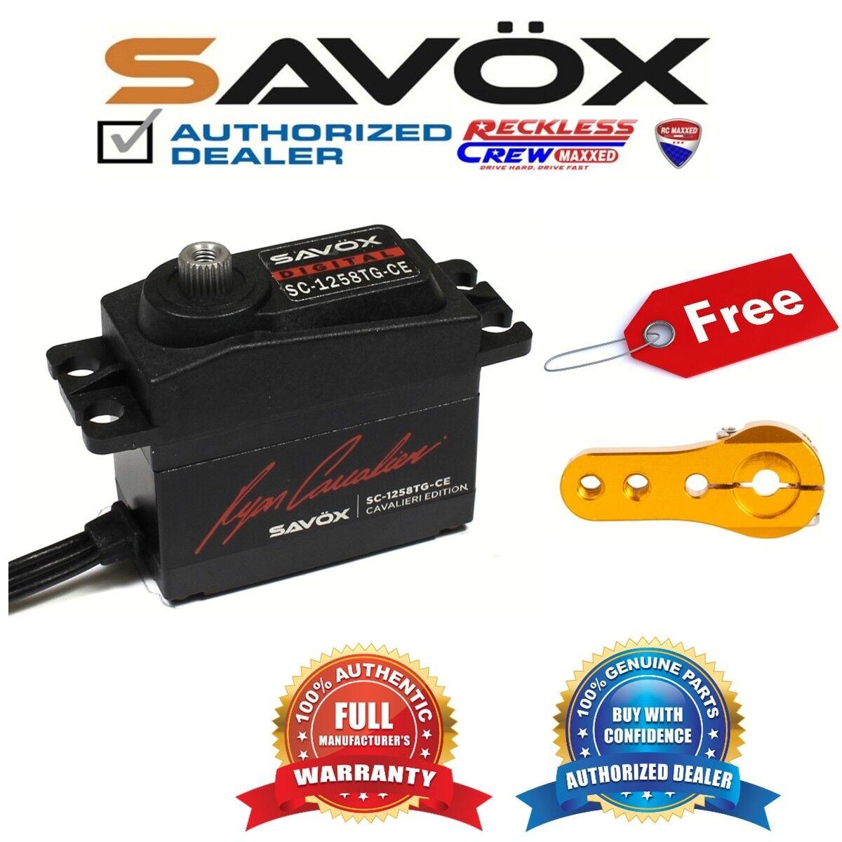 Savox SC-1258TG-CE Coreless Digital Servo Ryan + Free Aluminium servo horn oro