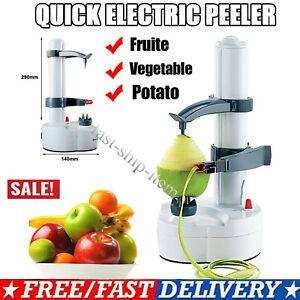 Electric Automatic Peeler Potato Fruit Apple Orange Veg Peeling Machine +3 Blade