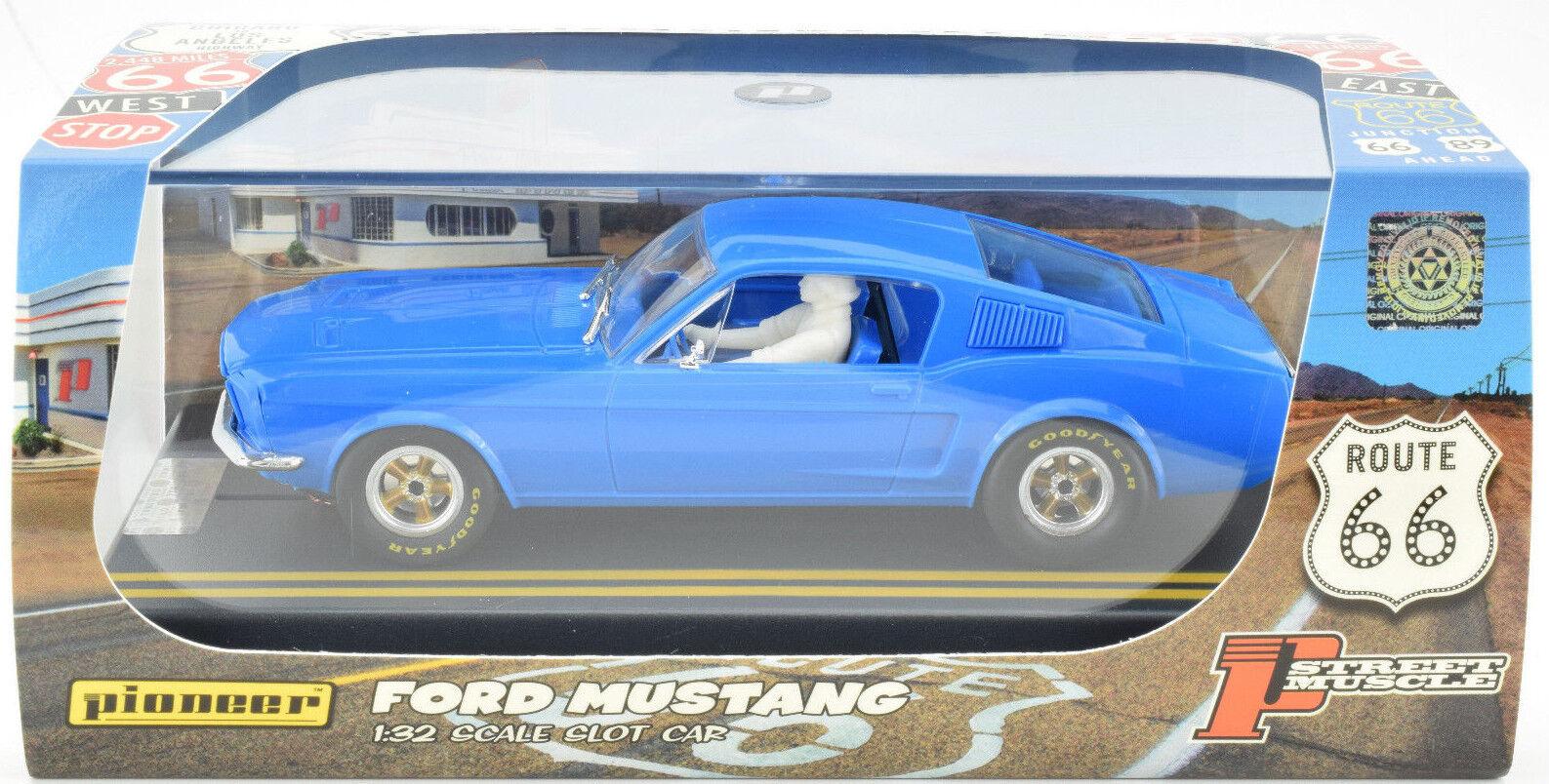 Pioneer 2018 Ford Mustang Notchback Azul J-Code Prototipo 1/32 Coche Ranura