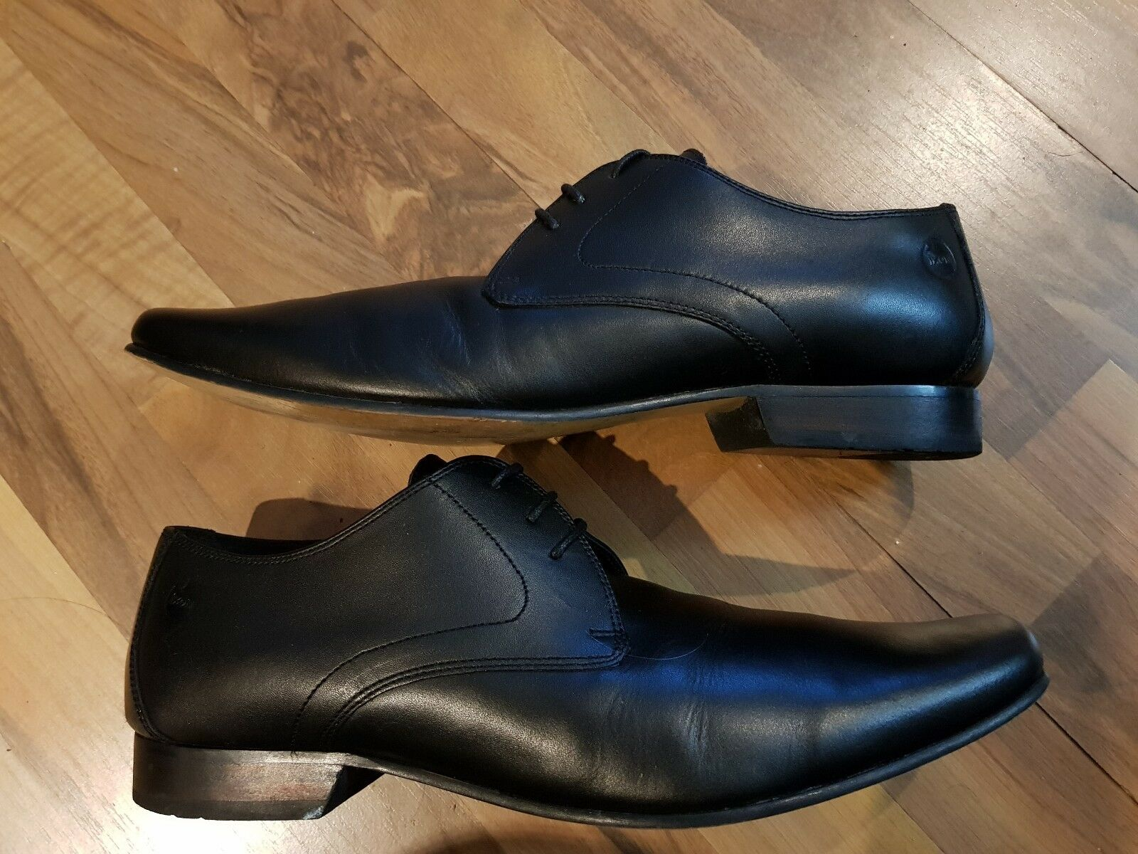 IKON gents full leather shoes size 12uk in black cost