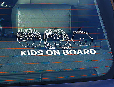 Static Cling Window Car Sign//Decal Cheeky Little Monkey on Board 100 x 250mm