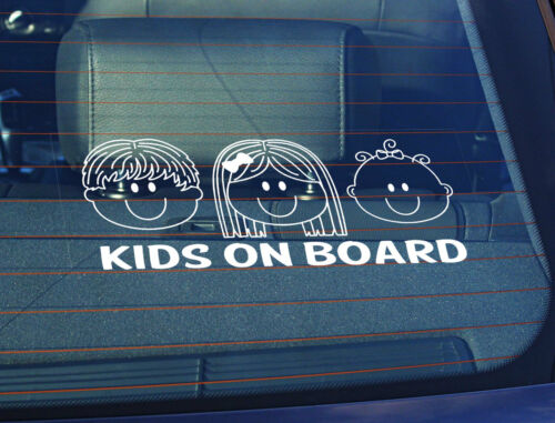 Baby Girl 100 x 250mm Static Cling Window Car Sign//Decal Kids on Board Boy,Girl