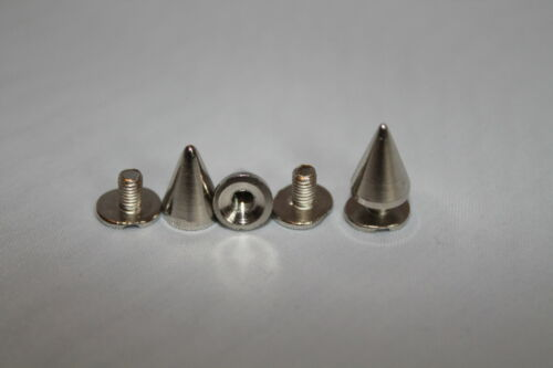 Various Sizes 50 x Punk Spike Cone Screw Back Studs//Rivets BRASS UK SELLER