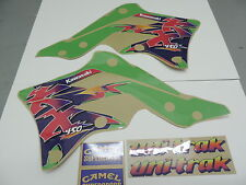 2012-2015 KAWASAKI KXF 450 Retro Grapihics Kit Vintage Motocross Decals