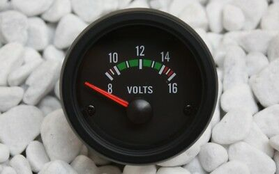 Voltmeter Instrument 52mm 8-16v Schwarz Retro Look 16v G60 G40 Vr6 Turbo S2 Gt 2019 Offiziell