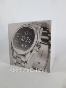 647bd9e52b8e1 A imagem está carregando Novo-Lacrado-Michael-Kors-Prata -Brilho-Bradshaw-Smartwatch-