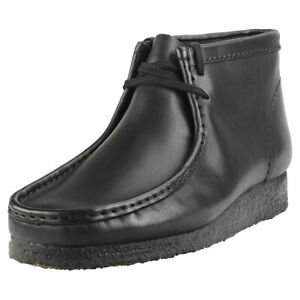 Details about Clarks Originals Wallabee Boot Mens Black Leather Boots Wallabee show original title