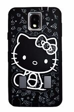 Hello Kitty 2 layer Built in Screen Protector Case For Samsung Galaxy Note3 Gray