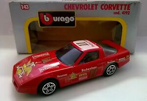 BURAGO-1-43-DIE-CAST-MADE-IN-ITALY-CHEVROLET-CORVETTE-ROSSO-ART-4192
