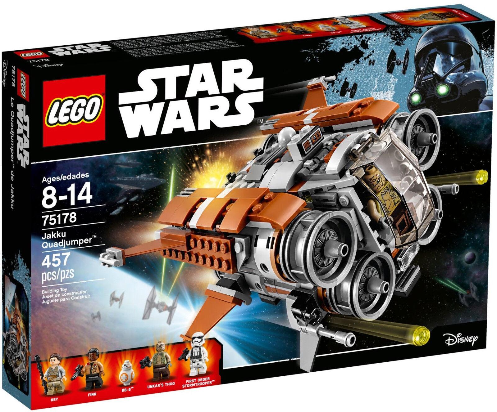 Lego Star Wars Wars Wars - 75178 Jakku quadjumper avec Rey, Finn & bb-8 - NEUF & neuf dans sa boîte 40fbd6