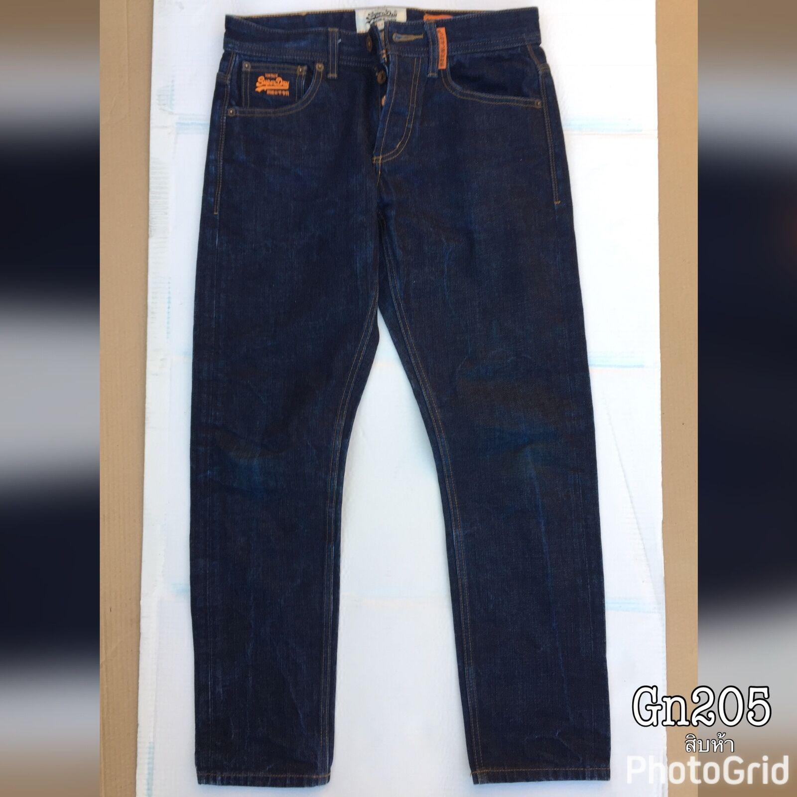 Camicia da uomo blu jeans denim lavato acido W32 L30 Autentico Loose Fit