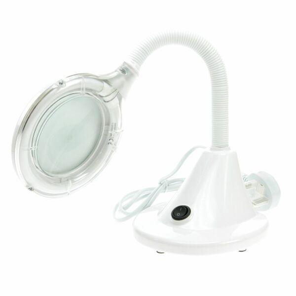 Lightcraft lc8082 compact flexi magnifier lamp table desk for Arredamento estetista usato