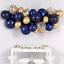Ballon DIY Girlanden Set Blau//Gold//Konfetti