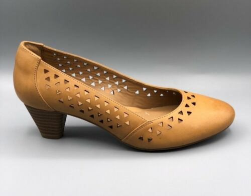 New 3 Leather denny Smart Ee Ladies Uk Brown Heels Dallas Clarks Court 8qrF8