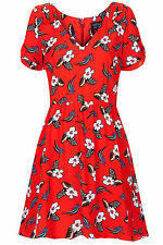 New TOPSHOP meadow summer dress UK 10 in Multi/Red