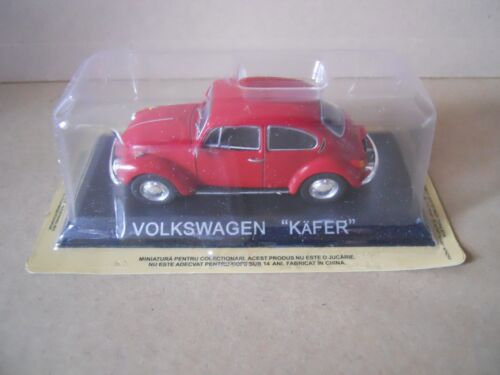 Legendary Cars Volkswagen Maggiolino Kafer Beetle rosso 1:43 Die Cast MZ