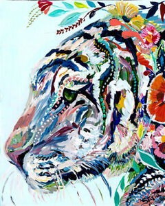 Paint by Number Kit, Wrinkle-Free Canvas, 16x20 inch (Without Frame), Tiger