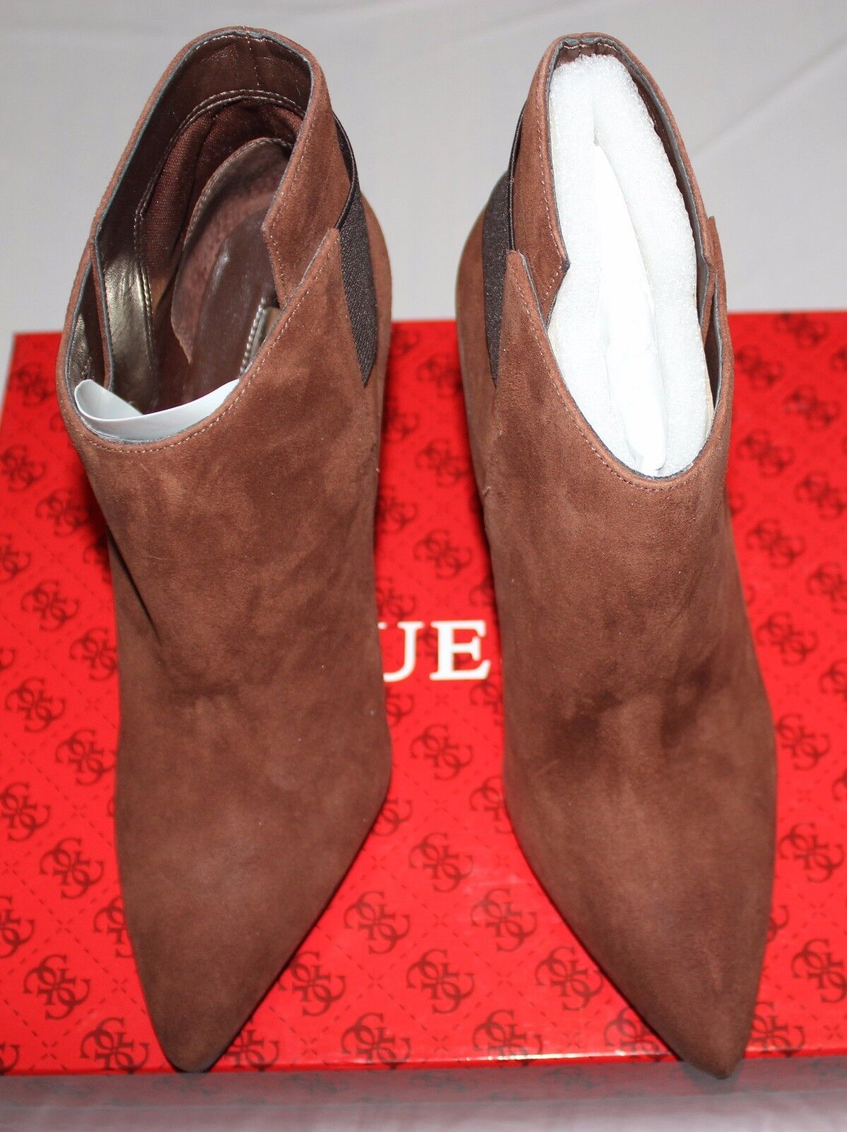 GUESS OLIVA BROWN MULTI SUEDE BOOTIE US 10M