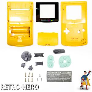 Gameboy-Color-Gehaeuse-Display-Game-Boy-Batterie-Deckel-Tasten-Case-Shell-Gelb