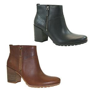 Timberland-Swazey-Ankle-Boots-Damen-Stiefeletten-Stiefel-Zip-Absatz-A12EK-A12EV