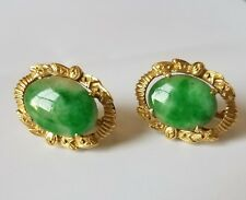 18k 750 gold Jade earrings