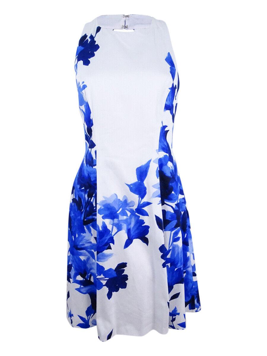 Lauren de Ralph Lauren femmes Floral Satin Flare Robe