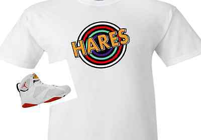 """EXCLUSIVE SHIRT TO MATCH THE  NIKE AIR JORDAN 7 HARES! """"HARES TUNNEL"""""""