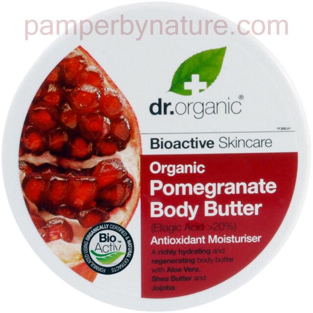 Dr Organic Pomegranate Body Butter Antioxidant Moisturiser 200ml