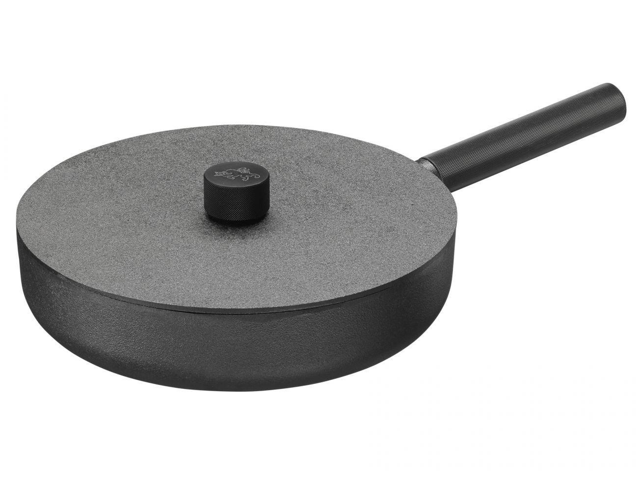 Skeppshult Noir schlemmerpfanne Poêle ofenpfanne en fonte avec couvercle 28 cm