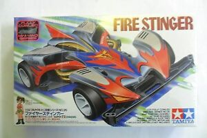 TAMIYA 1:32 MINI 4WD FIRE STINGER FULLY COWLED SERIES CON MOTORE  ART 19426