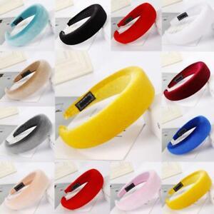 Women-039-s-Girl-Padded-Velvet-Headband-Fashion-Multi-color-Headband-Hair-Decor