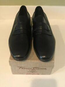 French-Shriner-Loafer-vintage-dress-shoes-Black-Size-10A-New