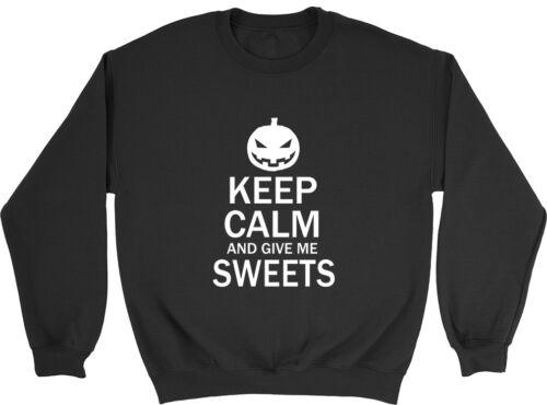 Keep Calm and give me Sweets Halloween Boys Girls Kids Jumper Sweatshirt