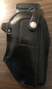 Vintage-AE-Nelson-84-4-Plain-Black-Leather-Holster-Fits-S-amp-W-L-Frame