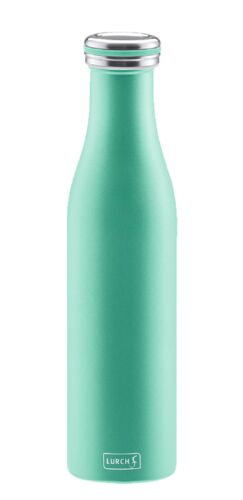 grün Lurch Thermoflasche Thermo-Flasche Edelstahl 0,75 ltr pearl green