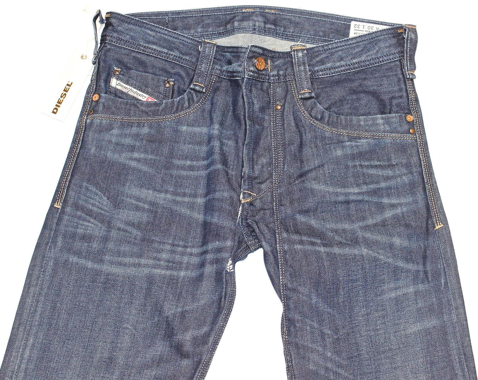 DIESEL Nuovo di Zecca TIMMEN 885 S Jeans 30X32 Regular Fit Straight Leg 0885 S