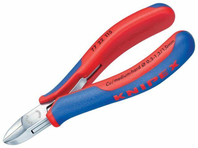 Knipex - Elektronische Seitenschneidezange - Rund ungeschrägt 115mm