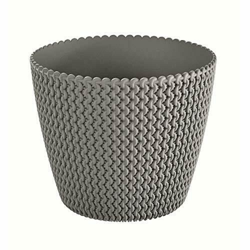 16 cm graphite Bureau Salle à plantes pour intérieur en tissé motif en Pastel Couleurs