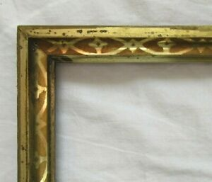 ANTIQUE-Fits-8-1-034-x-10-1-034-LEMON-GOLD-GILT-STENCILED-FRAME-FINE-ART-VICTORIAN