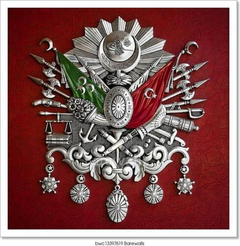 J Ottoman Empire Coat Of Arms Art Print Home Decor Wall Art Poster