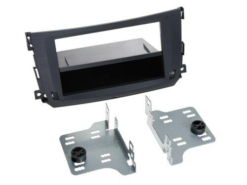 2-DIN Radioblende mit Fach Smart ForTwo 2010 /> schwarz