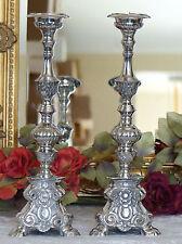 Kerzenleuchter Messing Kirchenleuchter Kerzenständer Kerzenhalter silber Barock
